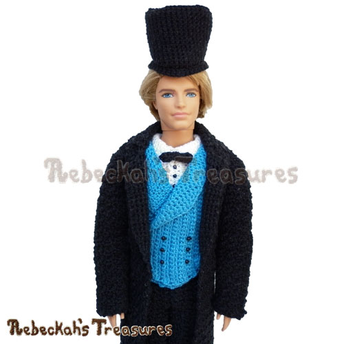 Rebeckah's Gentleman Fashion Doll Crochet Pattern PDF $7.75 by Rebeckah's Treasures! Grab it here: http://goo.gl/yWyz4m #ken #gentleman #barbie #crochet